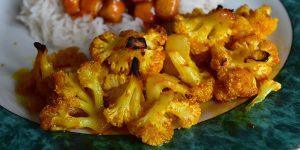 Chou-fleur rôti caramélisé